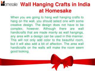 Wall Hanging Crafts | Wall Hangings Online Shopping India � Homesake