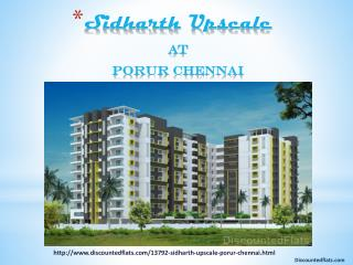 Apartments for sale @ Sidharth Upscale Chennai