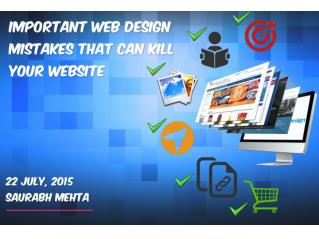 Important Web Design Mistakes That Can Kill Your Website