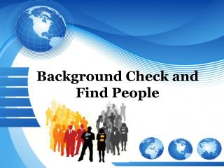 Background Check and Find People