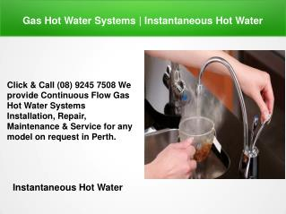 Instantaneous Hot Water | Instant Hot Water