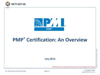 PMP Certification - An Overview