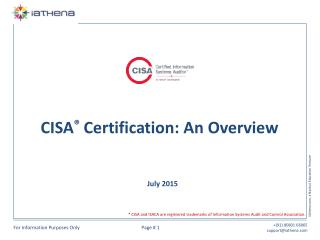 CISA Certification - An Overview