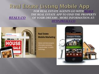 Realy Real Estate Lisitng Mobile App
