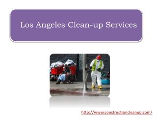Los Angeles Clean-up Services