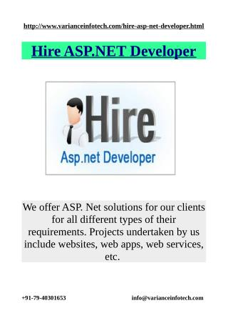 Hire ASP.NET Developer