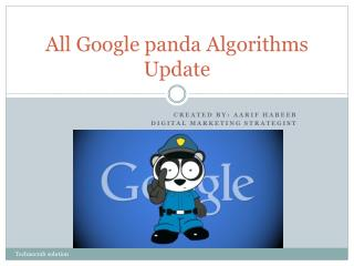 All Google panda Algorithms Update