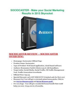 SocioCaster   particular review and ultimate bonuses package