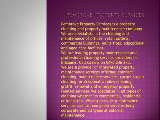 property maintenance Brisbane