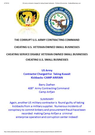 Blog 12 US Army Contractor Charged For  Taking Kickbacks