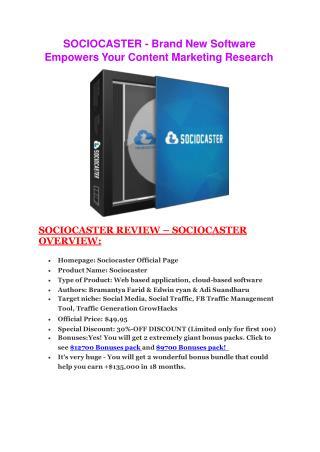 SocioCaster   preview information and huge bonus pack
