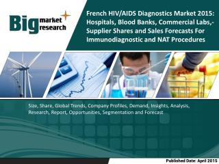 French HIV/AIDS Diagnostics Market 2015: Hospitals, Blood Banks, Commercial Labs,- Supplier Shares and Sales Forecasts F