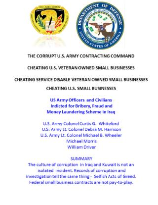 Blog 17 US Army Officers and Civilians Indicted for Bribery