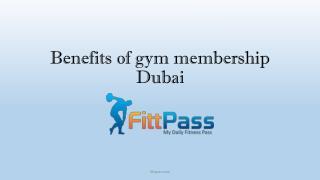 Benefits of gym membership Dubai