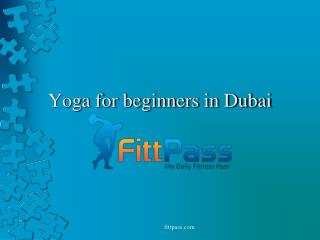 Yoga for beginners in Dubai.