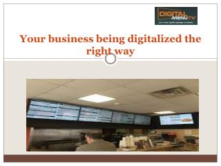 Digital menu & signage packages Boston