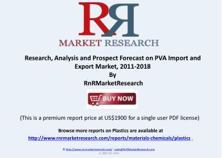 Prospect Forecast on PVA Import and Export Market, 2011-2018