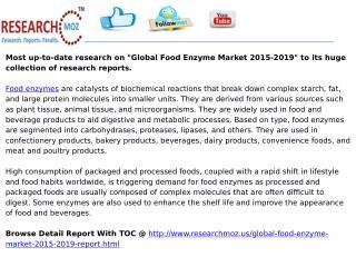 Global Food Enzyme Market 2015-2019