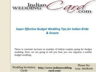 Budget Wedding Tips for Indian Bride & Groom
