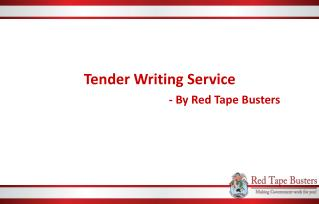 Tender Writing Services by Red Tape Busters