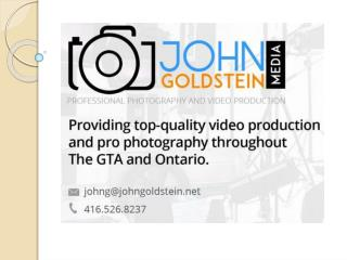 John Goldstein Media's Professional Photography in Mississauga