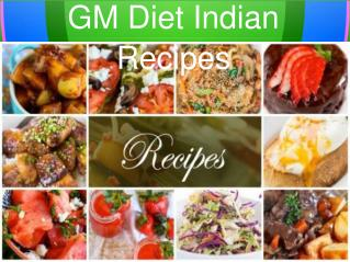 GM Diet Indian Version Recipes – GM Diet Magic