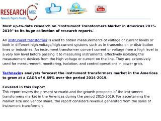 Instrument Transformers Market in Americas 2015-2019