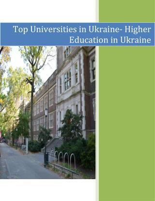 Study in Ukraine University