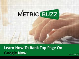 Learn How To Rank Top Page On Google Now
