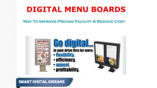 Digital Menu Boards - Improve Pricing Facility & Reduce Cost