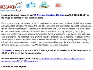 IT Storage Services Market in APAC 2015-2019
