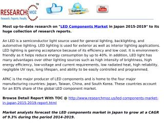 LED Components Market in Japan 2015-2019