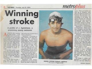 Agnishwar Jayaprakash - A Winning Stroke - Metro Plus'04