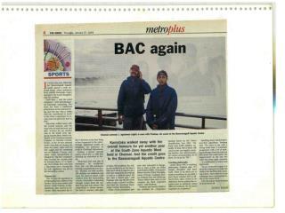 Agnishwar Swimmer with his  Coach Pradeep 'BAC - 2005
