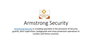 SECURITY COMPANIES IN LONDON | SECURITY SERVICES | ARMSTRONG SECURITY