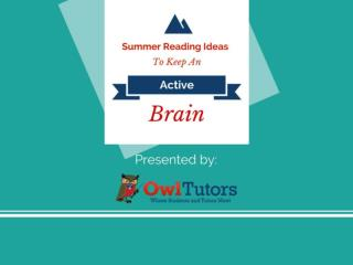 Summer Reading Ideas to Keep the Brain Active