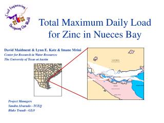 Total Maximum Daily Load for Zinc in Nueces Bay