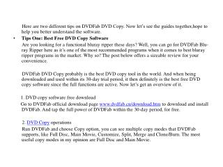 Best Free DVD Copy Software