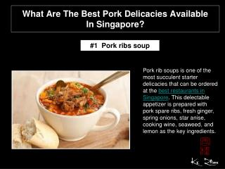 What are the best pork delicacies available in Singapore?