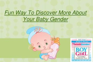 Fun Way To Discover More About Your Baby Gender