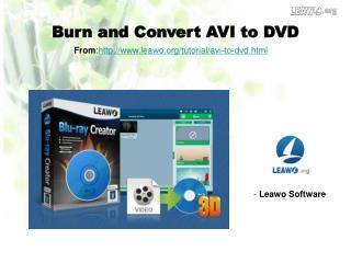 Burn and Convert AVI to DVD