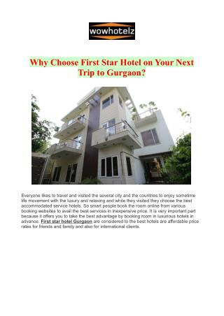 First Star Hotel Gurgaon