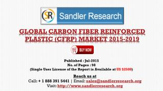 Carbon Fiber Reinforced Plastic (CFRP) Market to 2019: Analysis and Forecasts Report