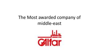 The most awarded company of the middle-east