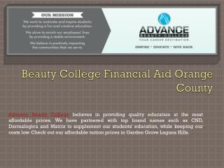 Beauty College Financial Aid Orange County