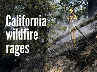 California wildfire rages