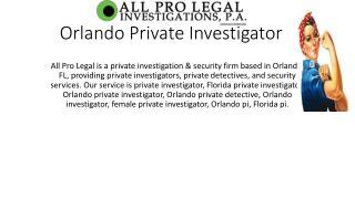 Orlando Private Investigator