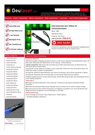 Beste 1000mw grünen Laserpointer