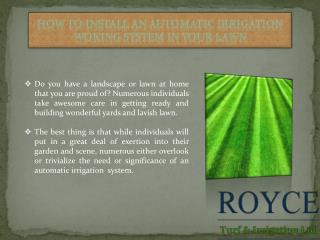 How to Install an Automatic Irrigation Woking System in Your Lawn