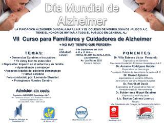 VII  Curso para Familiares y Cuidadores de Alzheimer